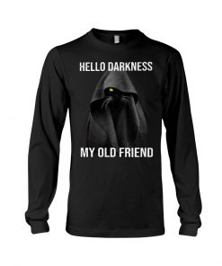 Hello Darkness My Old Friend Black Cat long sleeved