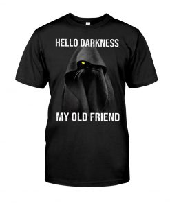 Hello Darkness My Old Friend Black Cat shirt
