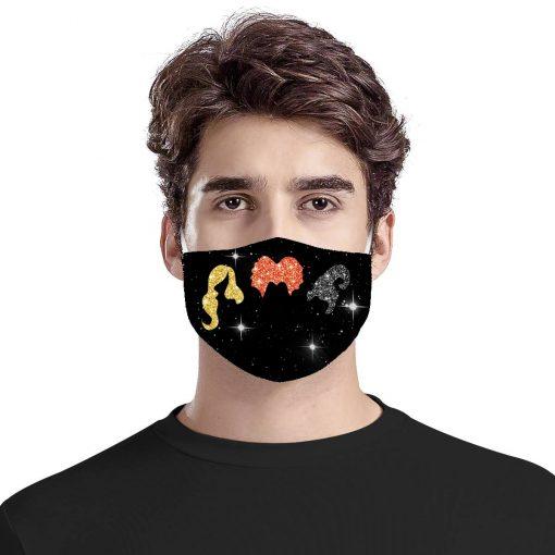 Hocus Pocus Glitter cloth mask