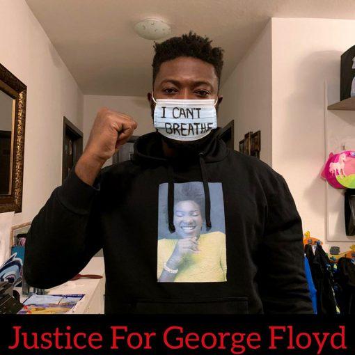 I can't breathe George Floyd cloth mask