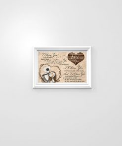 I choose you to do life with hand in hand side by side Jack Skellington and Sally poster poster 2