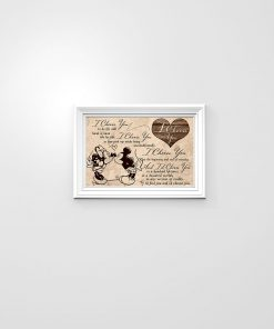 I choose you to do life with hand in hand side by side Mickey and Minnie poster 2