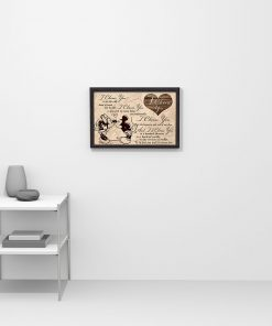 I choose you to do life with hand in hand side by side Mickey and Minnie poster 3