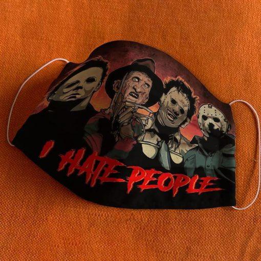 I hate people Freddy, Leatherface, Jason, Michael mask