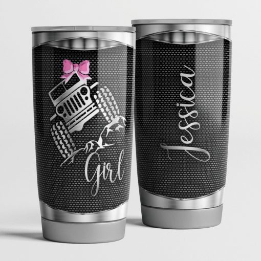 Jeep Girl as metal personalized tumbler 0