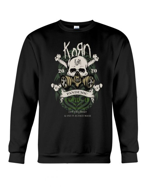 Korn 2020 Covid 19 Pandemic Skull Sweatshirt