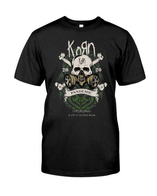 Korn 2020 Covid 19 Pandemic Skull T-shirt