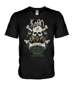 Korn 2020 Covid 19 Pandemic Skull V-neck