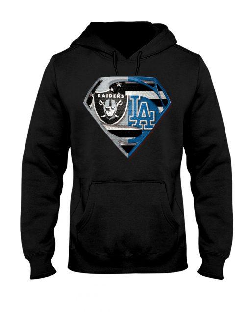 Los Angeles Raiders and Dodgers super team hoodie