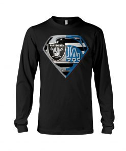 Los Angeles Raiders and Dodgers super team long sleeved