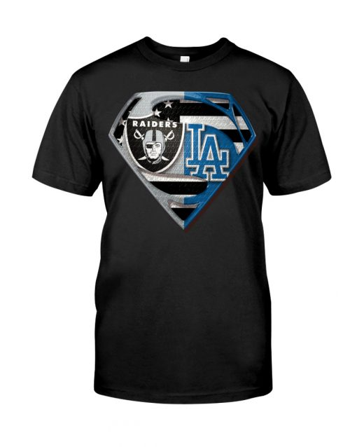 Los Angeles Raiders and Dodgers super team shirt