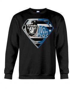 Los Angeles Raiders and Dodgers super team sweatshirt