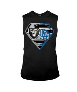 Los Angeles Raiders and Dodgers super team tank top