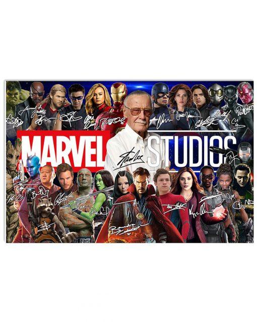 Marvel Studios character signatures poster