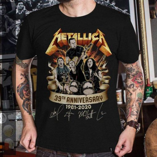 Metallica 39th Anniversary 1981-2020 shirt 0