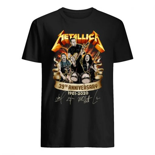 Metallica 39th Anniversary 1981-2020 shirt