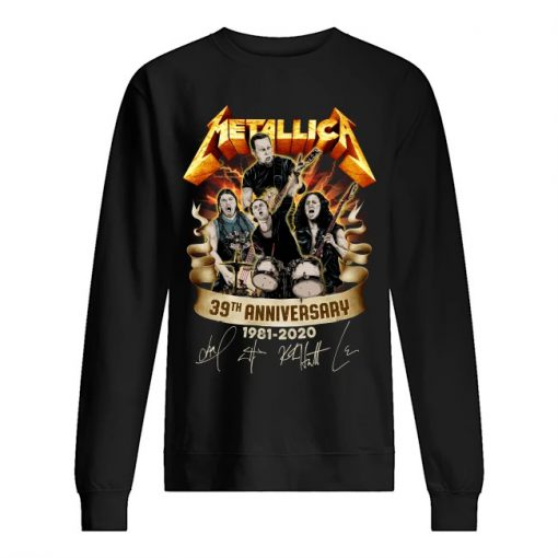 Metallica 39th Anniversary 1981-2020 sweatshirt
