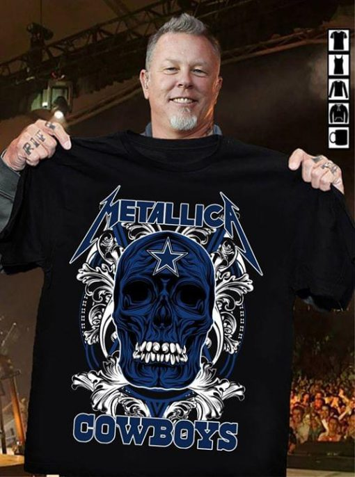 Metallica Cowboys skull shirt