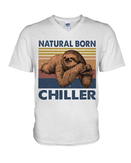 Natural Born Chiller Sloth v-neck