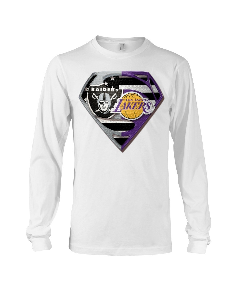 Oakland Raiders and Los Angeles Lakers Super Team hoodie