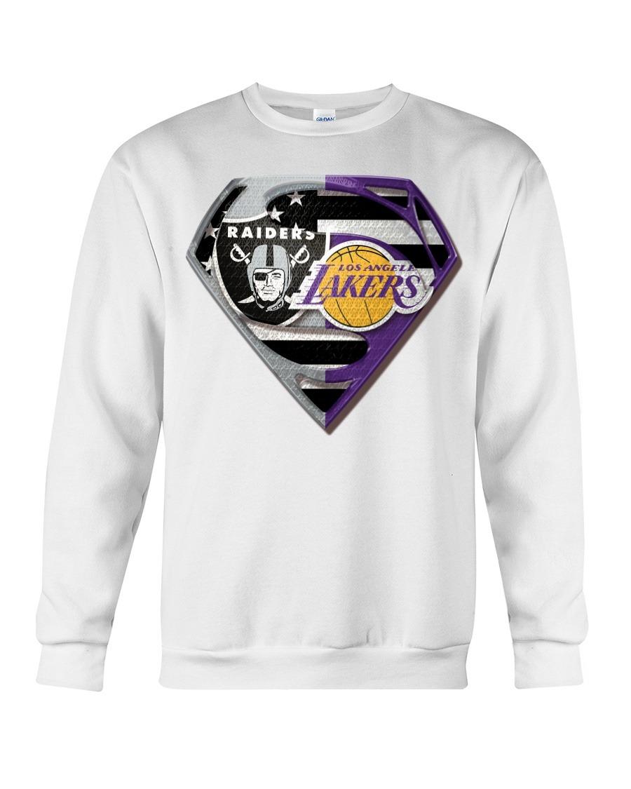 Oakland Raiders and Los Angeles Lakers Super Team Sweatshirt