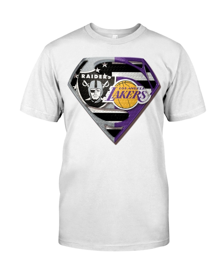 Oakland Raiders and Los Angeles Lakers Super Team T-shirt