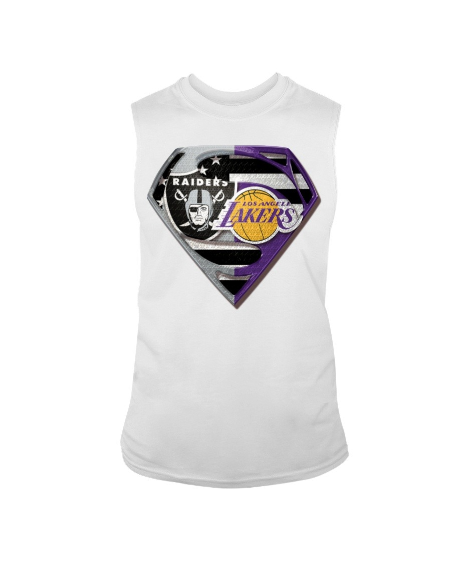 Oakland Raiders and Los Angeles Lakers Super Team Tank top