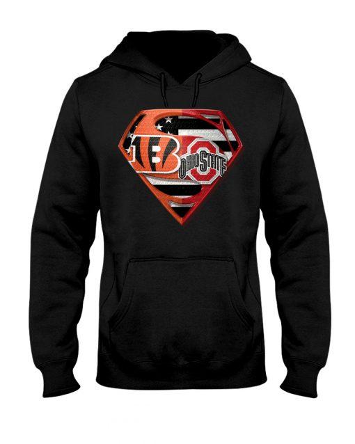 Ohio State Buckeyes and Cincinnati Bengals super team hoodie