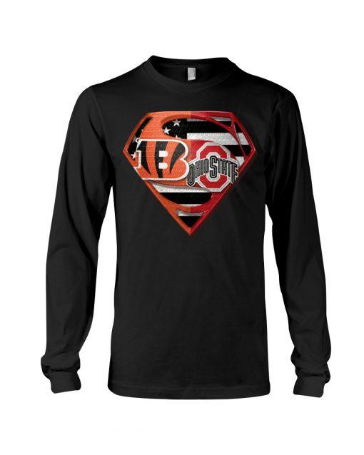 Ohio State Buckeyes and Cincinnati Bengals super team long sleeved