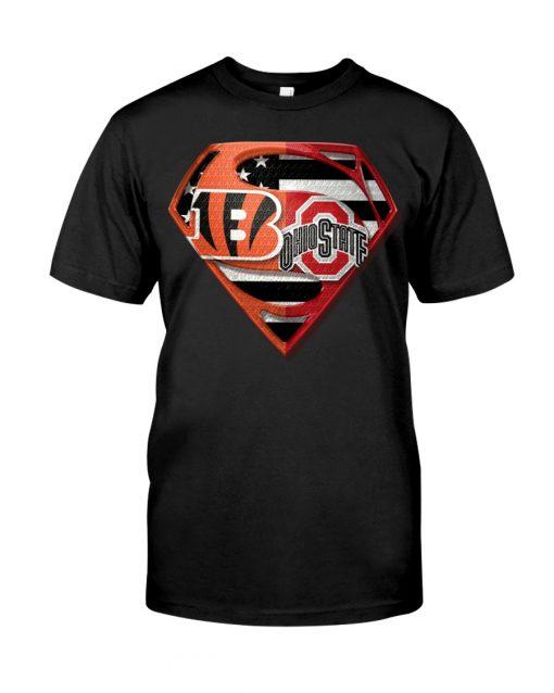 Ohio State Buckeyes and Cincinnati Bengals super team shirt