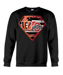Ohio State Buckeyes and Cincinnati Bengals super team sweatshirt