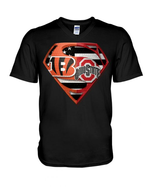 Ohio State Buckeyes and Cincinnati Bengals super team v-neck
