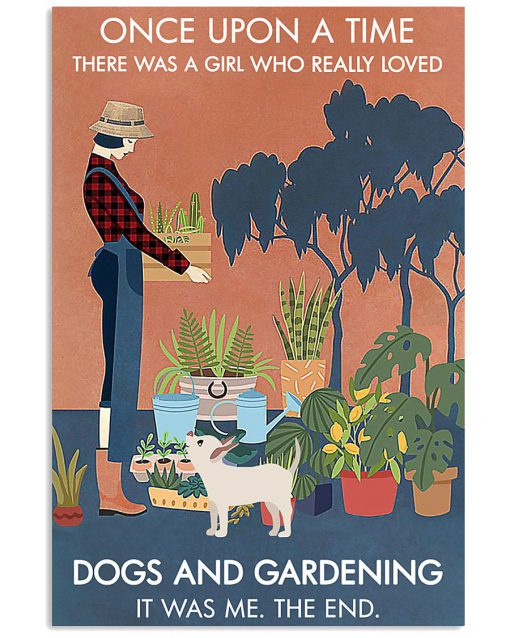 Once upon a time there was a girl who really loves books dogs and gardening poster 1