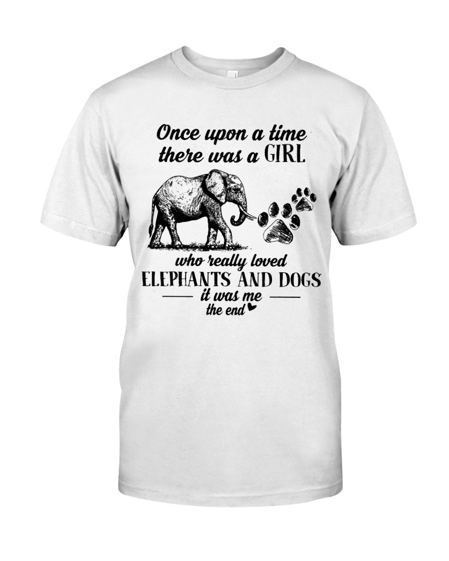 Once upon a time there was a girl who really loves elephants and tattoos T-shirt