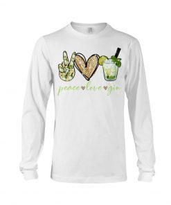 Peace love gin long sleeved