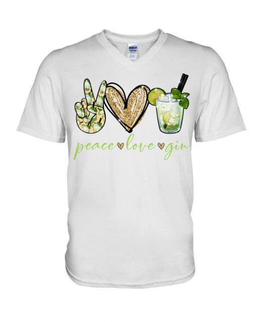 Peace love gin v-neck