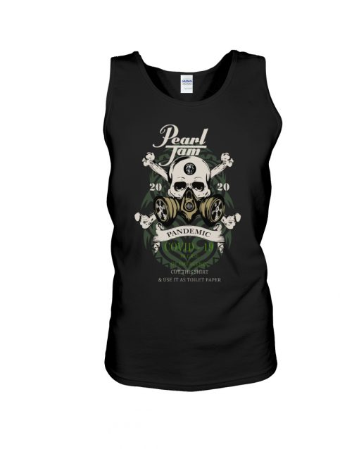 Pearl Jam Skull 2020 Pandemic Covid-19 tank top