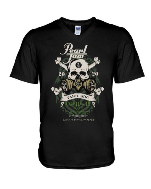 Pearl Jam Skull 2020 Pandemic Covid-19 v-neck