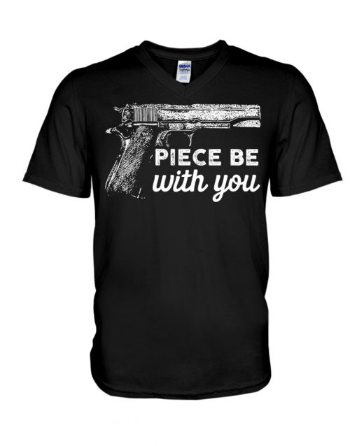 Piece Be With You - Gun v-neck