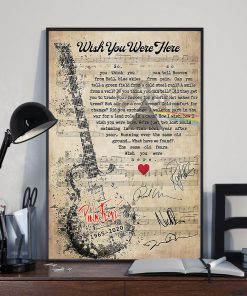 Pink Floyd - Wish You Were Here lyrics poster 1