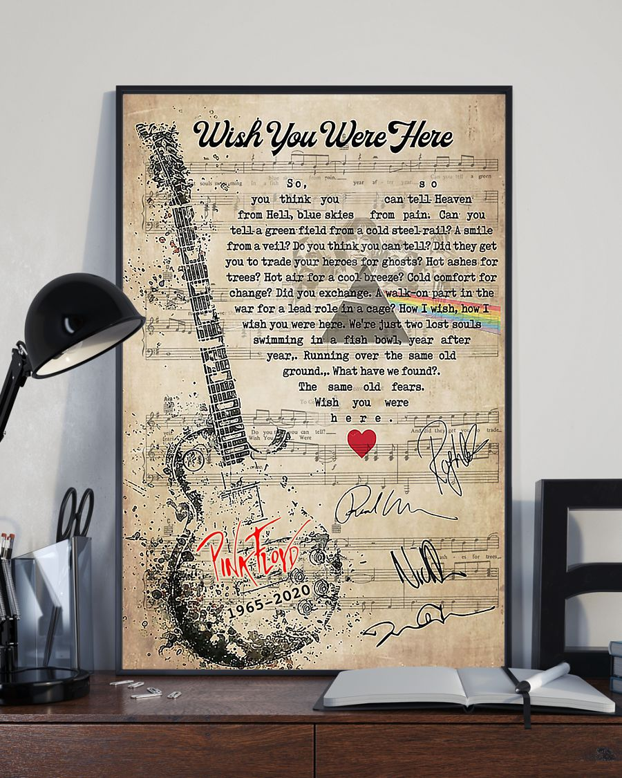 Pink Floyd - Wish You Were Here lyrics poster 1