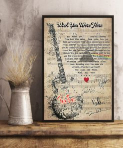 Pink Floyd - Wish You Were Here lyrics poster 2