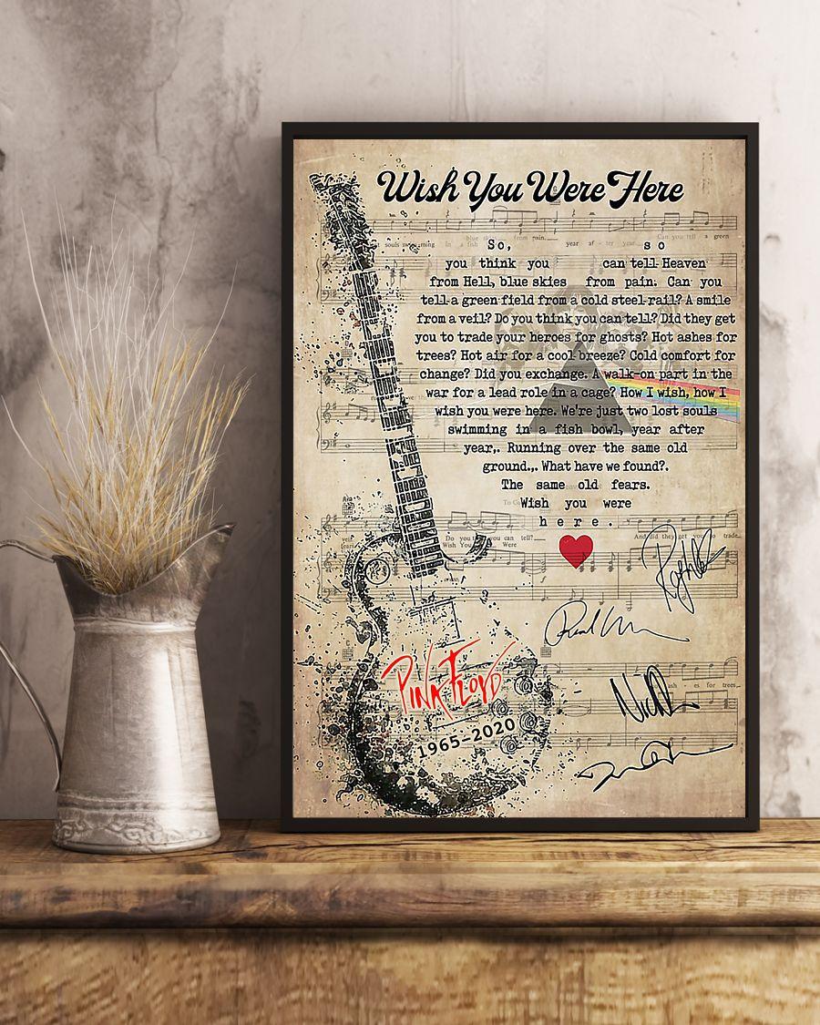 Pink Floyd - Wish You Were Here lyrics poster 2