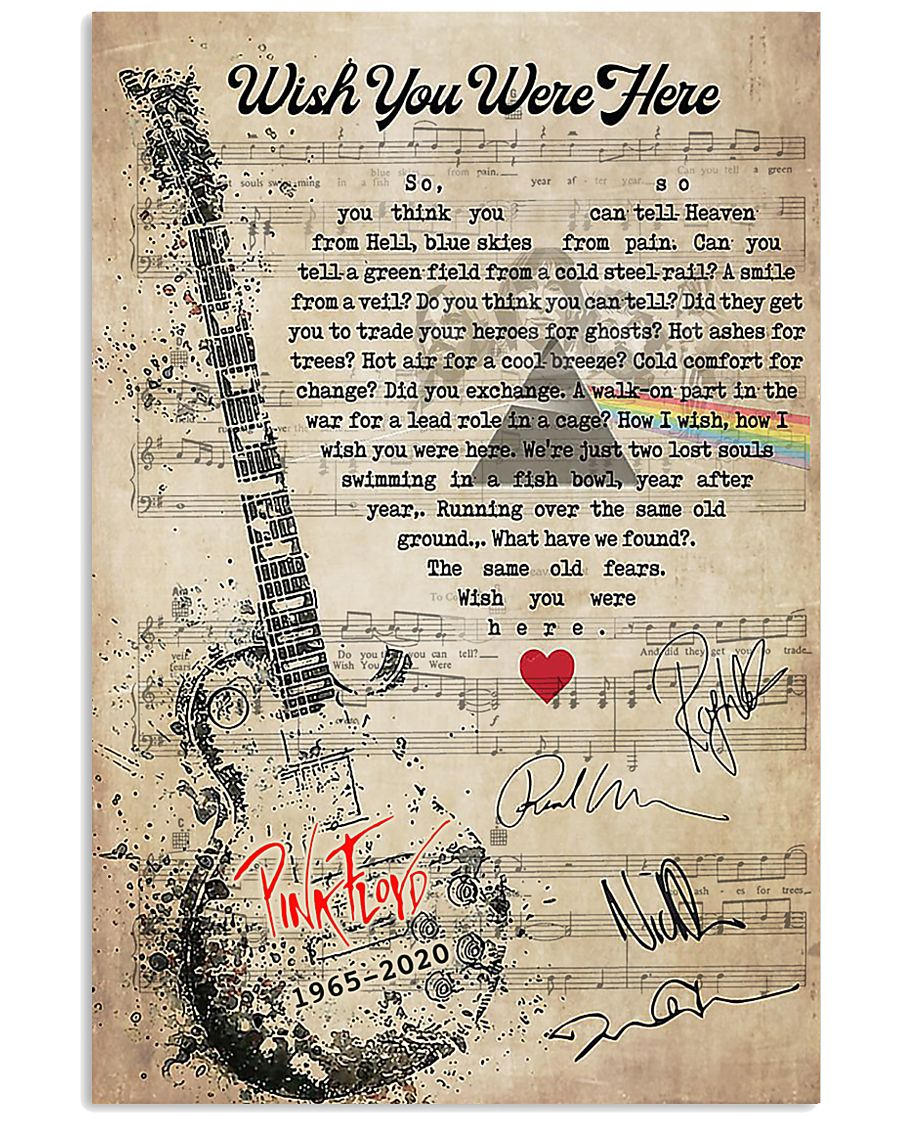 Pink Floyd Wish You Were Here Lyrics Poster Tagotee