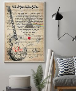 Pink Floyd - Wish You Were Here lyrics poster 4