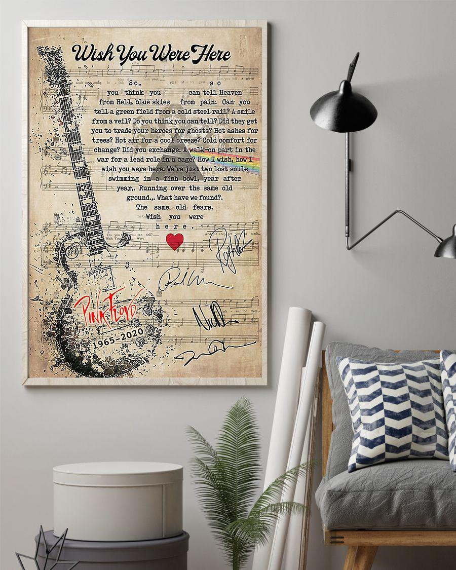 Pink Floyd - Wish You Were Here lyrics poster 4