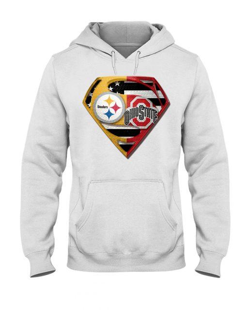 Pittsburgh Steelers and Ohio State Buckeyes superman hoodie