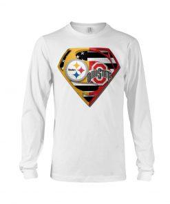 Pittsburgh Steelers and Ohio State Buckeyes superman long sleeved