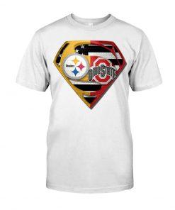 Pittsburgh Steelers and Ohio State Buckeyes superman shirt