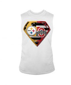 Pittsburgh Steelers and Ohio State Buckeyes superman tank top